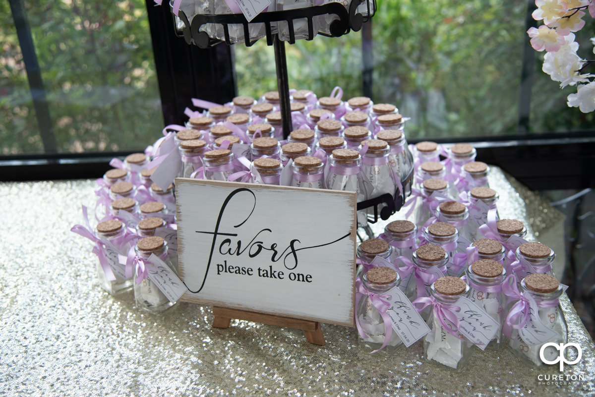 Wedding favors.