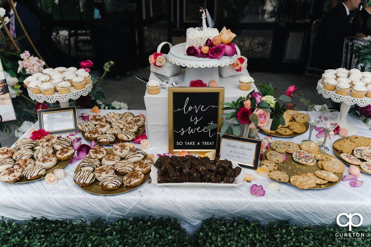 Wedding desserts.