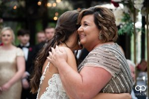 Bride dancing with her mom.
