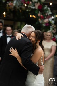 Bride dancing with her grandfather.