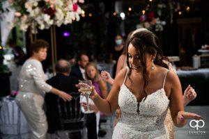 Bride dancing .
