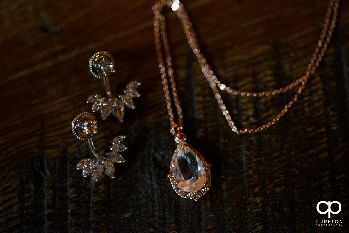 The bride's jewelry.