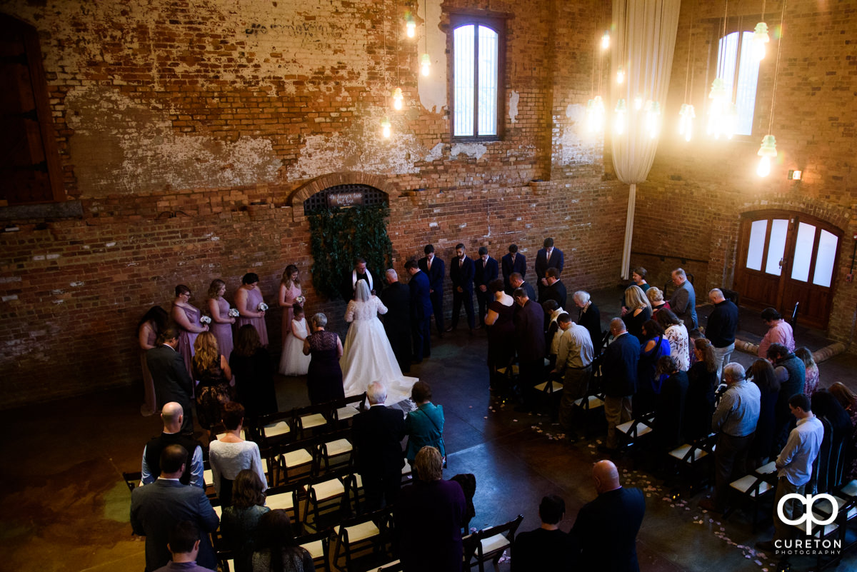 Wedding ceremony at the Old Cigar Warehouse.