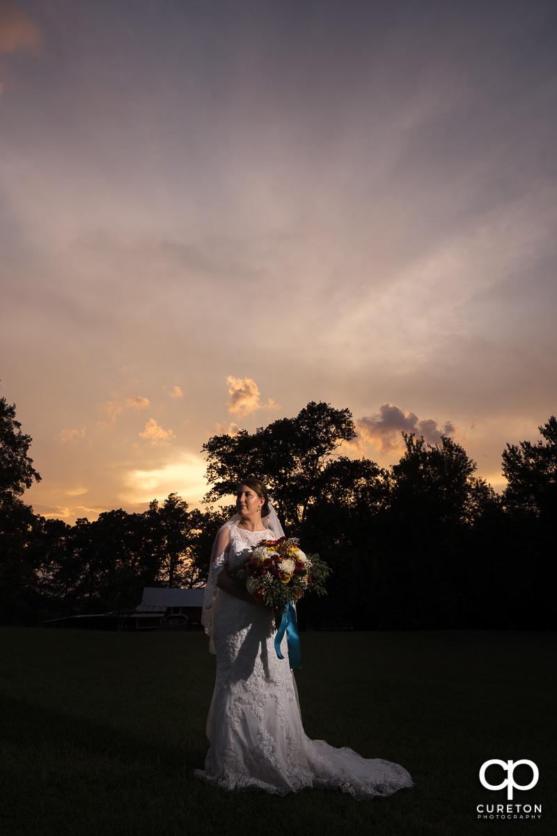 Epic bridal at sunset.