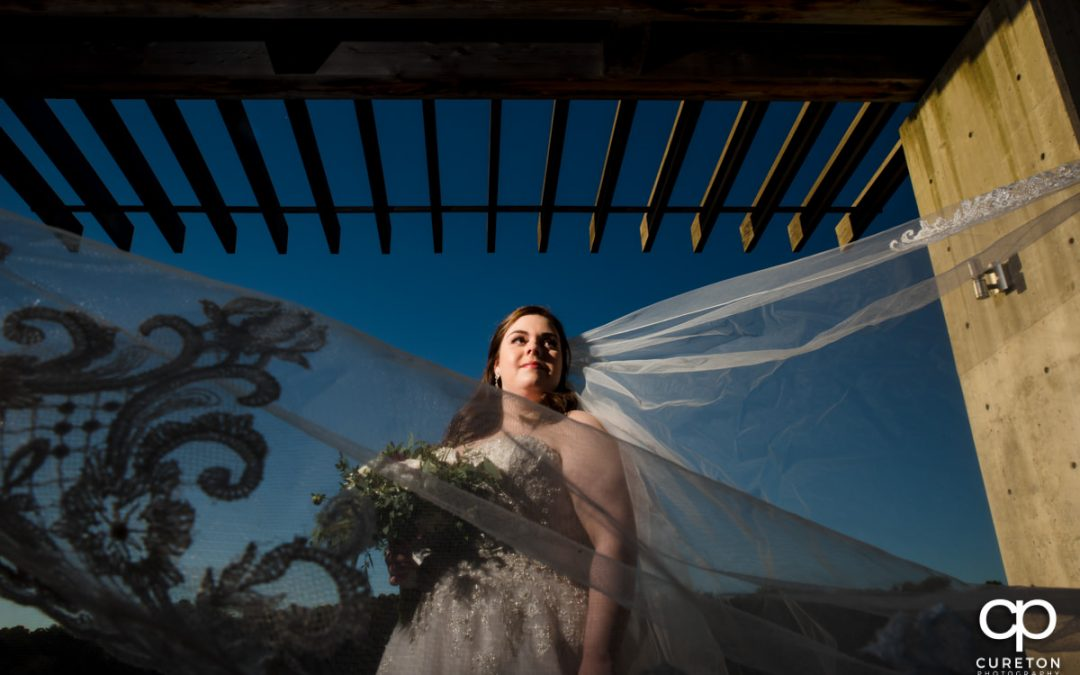 Megan-Furman Bell Tower Sunset Bridal Session – Greenville,SC