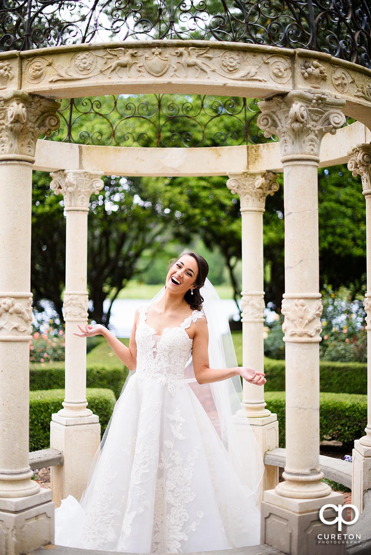 Smiling bride.