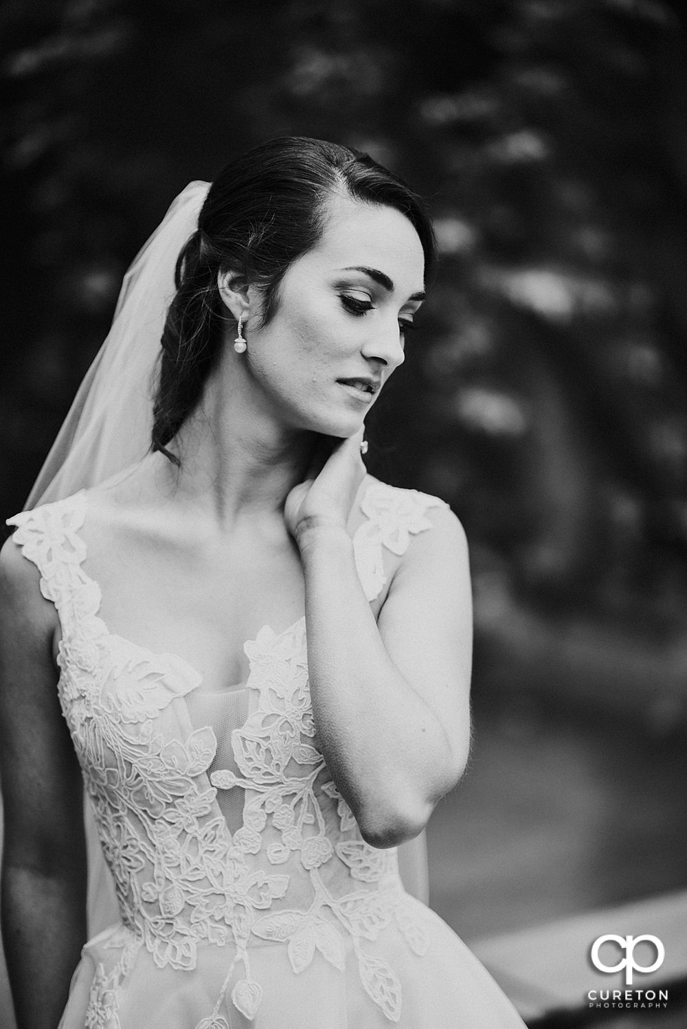 Black and white fashion forward bridal session.
