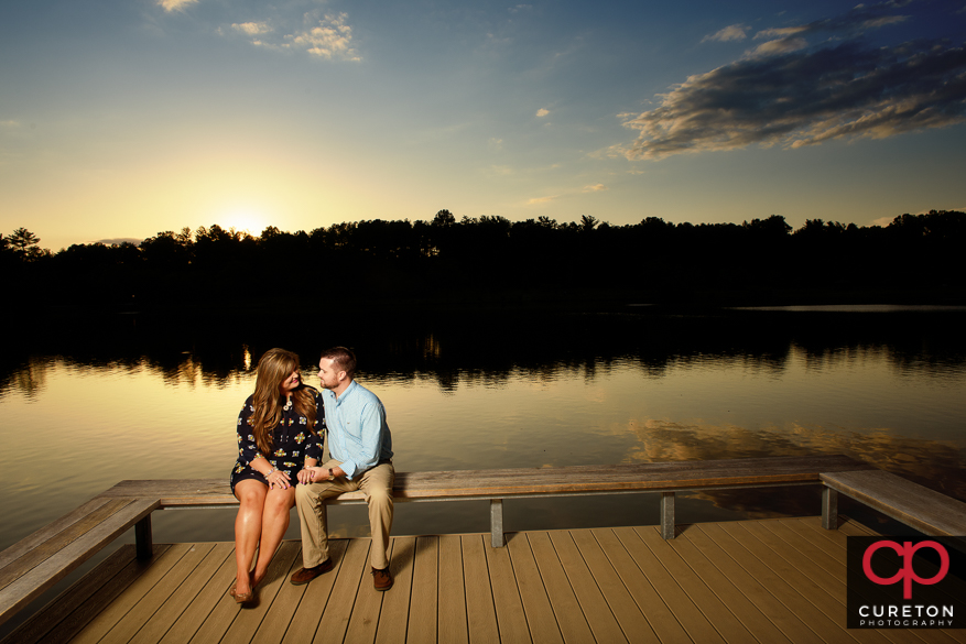 An amazing sunset for this Furman engagement session.