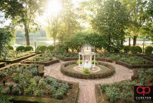 Epic Rose garden bridal photo at Furman Universoty.