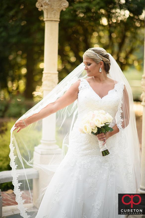 Bride at Furman.