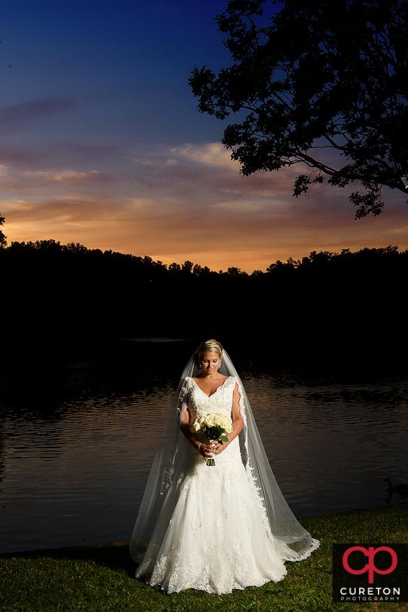 Epic sunset bridal.