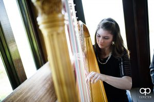 Harpist playing at the ceremony.