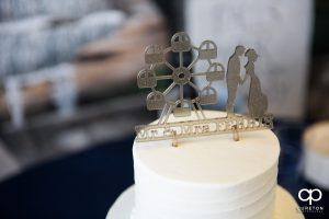 Custom Ferris wheel wedding cake topper.