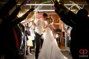 Glowstick wedding leave.