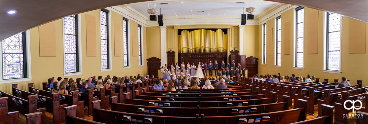 Wedding Ceremony at Grace Church in Greenville,SC.