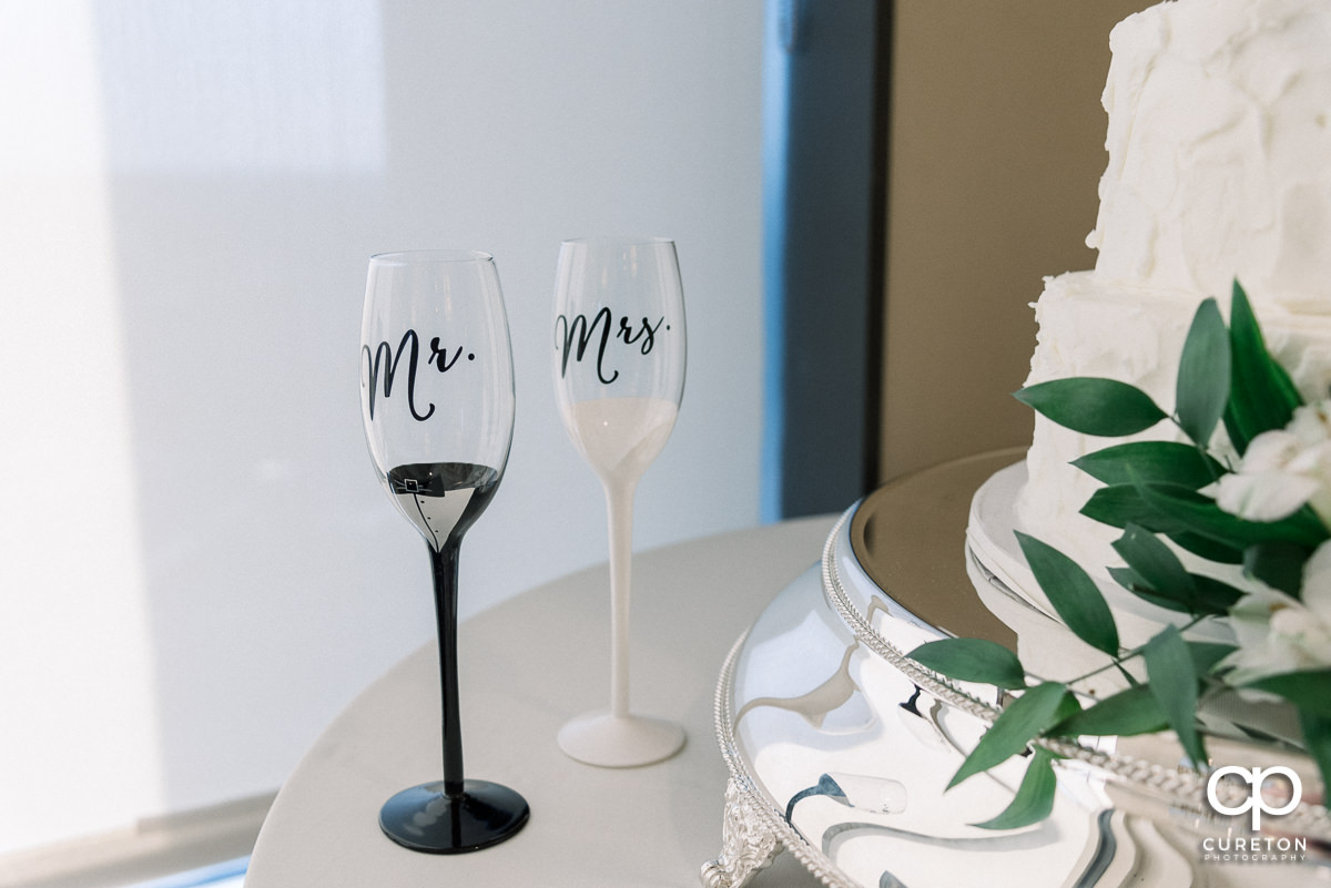Wedding glasses.