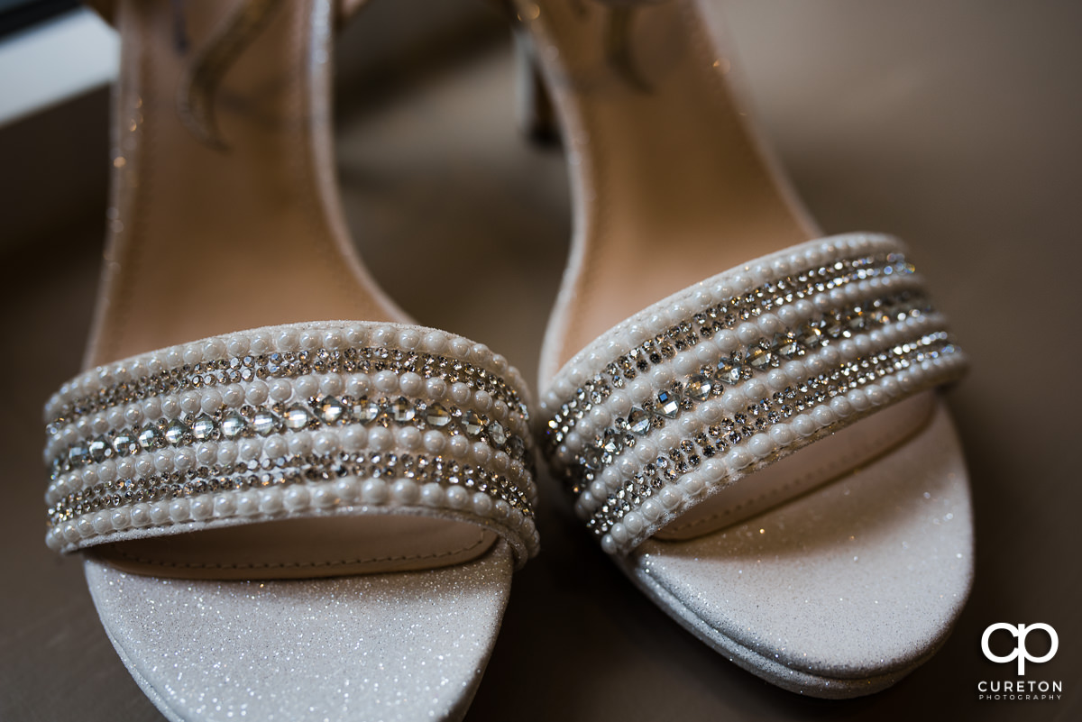 Bride's shoes detail.