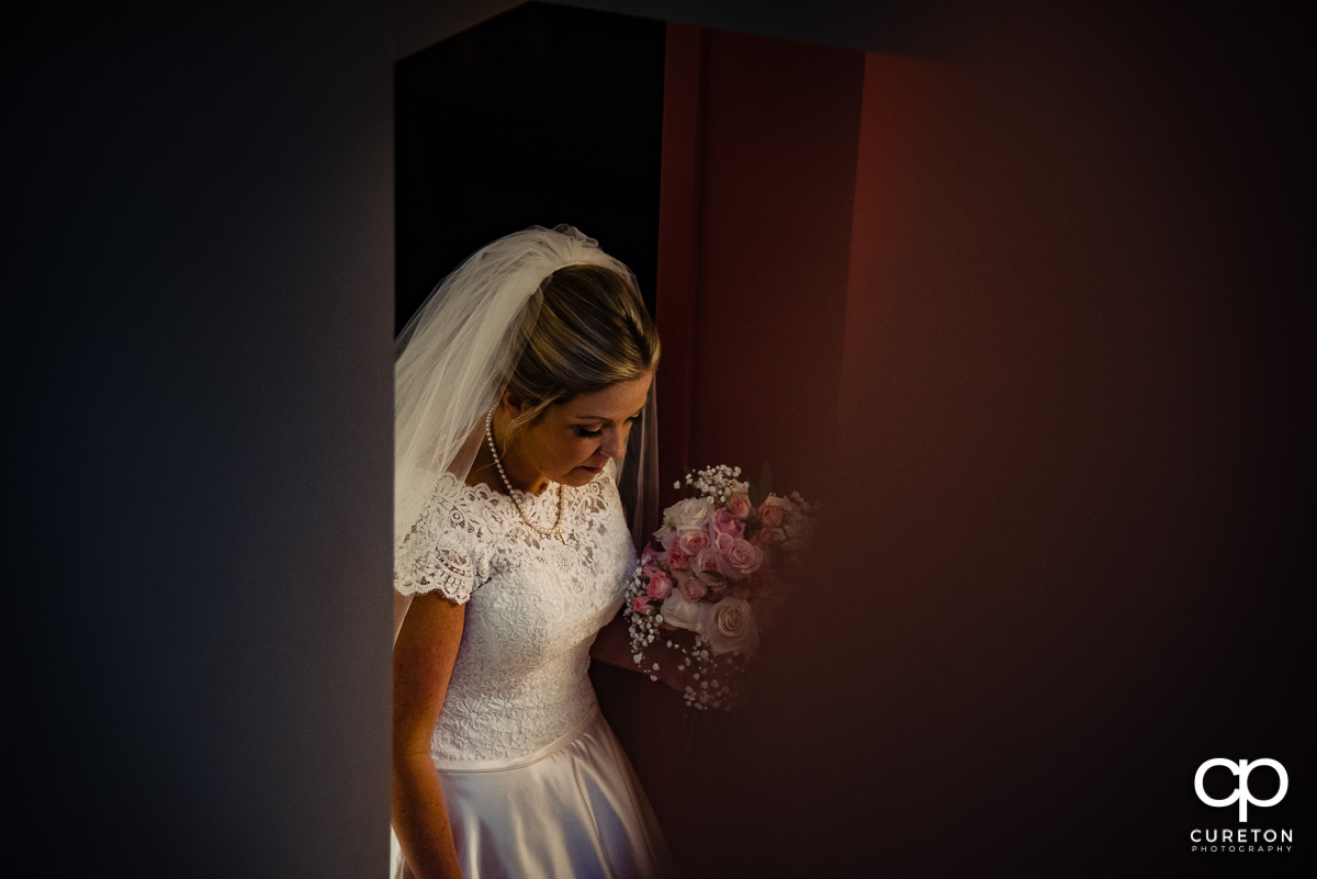 Bride walking up to the ceremony.