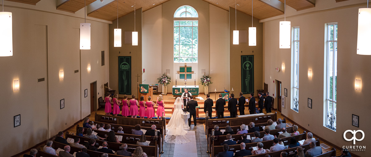 Wedding ceremony at Lutheran Church of the Good Shepherd.