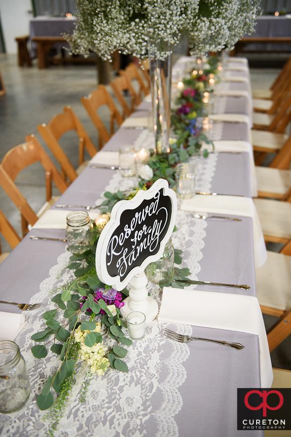 Beautiful rustic farm wedding details.