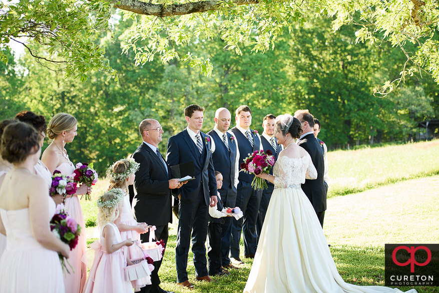 Groom sees his bride for the fi