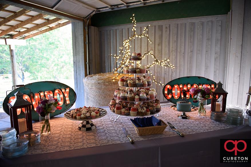 Cupcake tree by Gigi's Cupcakes.