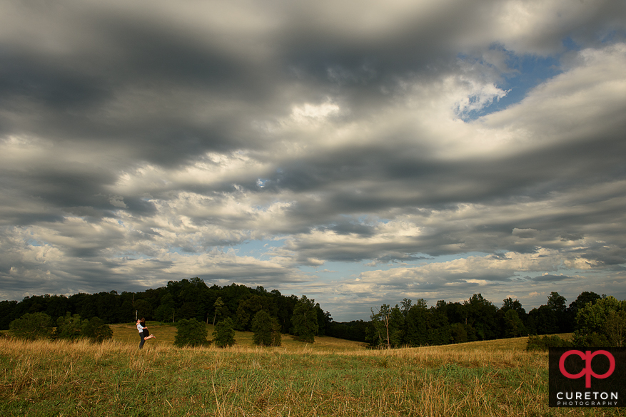 Epic landscape of Greenbrier Farms during an engagement session.