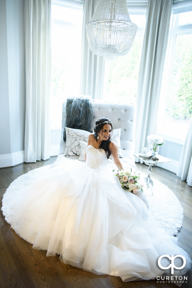 Natural Light Bridal session in Greenville,SC by Cureton Photography.