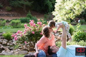 Family photo session at the Rock Quarry Garden in Greenville,SC.