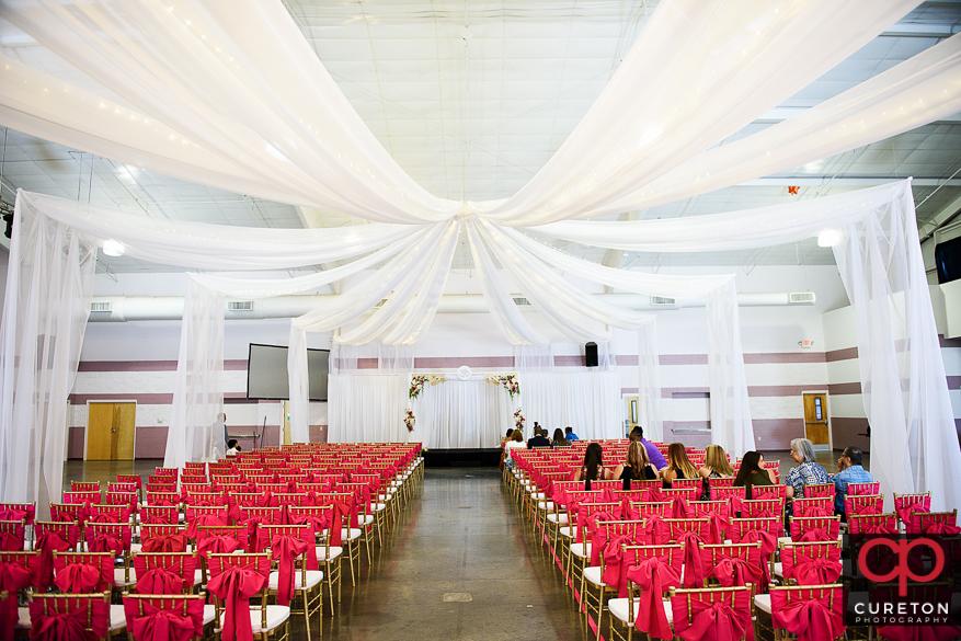 Indian wedding ceremony site.