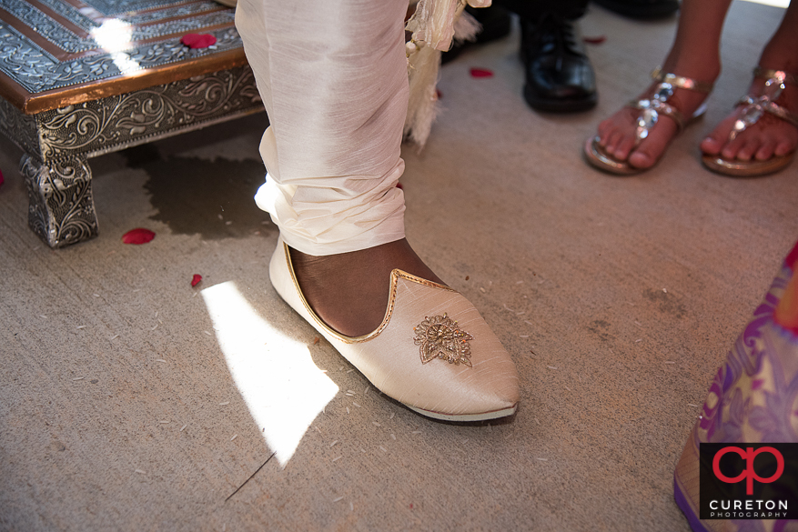 Indian groom's shoes.