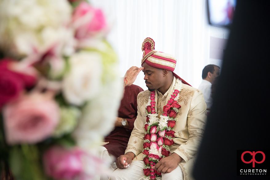 Groom at the Indian wedding ceremony.