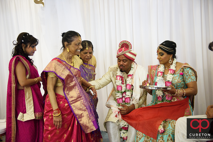 Indian wedding ceremony at the Vedic Center.