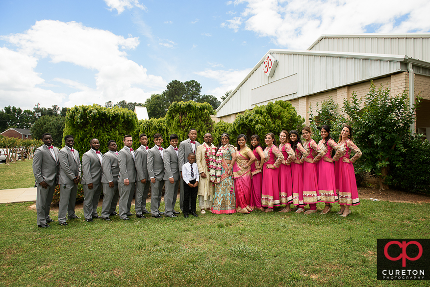 Indian wedding party.