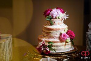 Wedding cake at Embassy Suites.