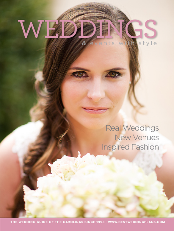 Cover of Greenville Wedding Magazine - Weddings with Style short by Cureton Phtoography.