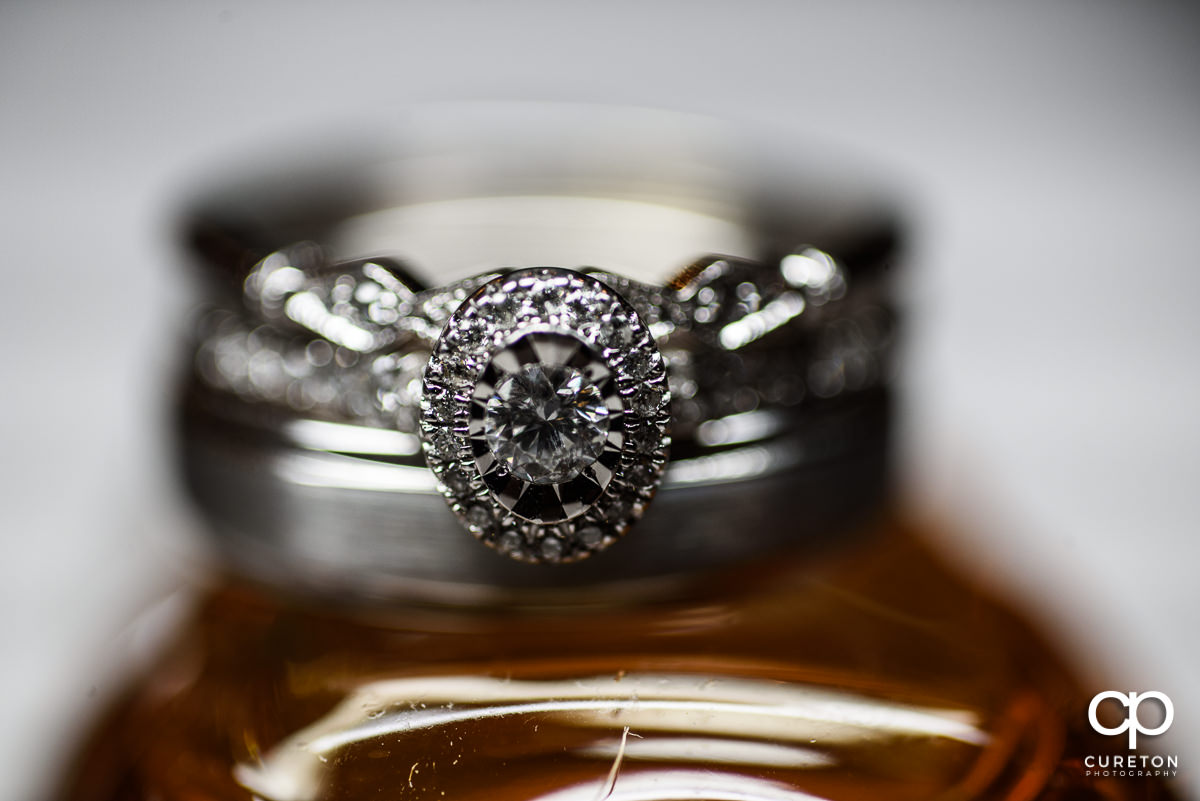 Wedding ring closeup.