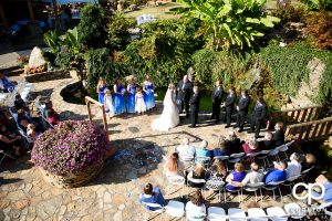 Wedding ceremony at the hollow at Paris mountain.