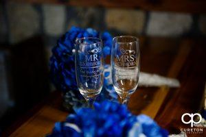 Wedding toasting glasses.