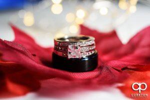 Wedding ring macro shot.