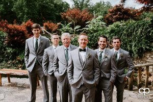 Groom and his groomsmen before the ceremony.