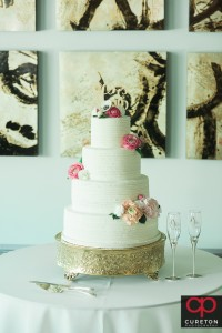 Gorgeous wedding cake by Kathy and Co.