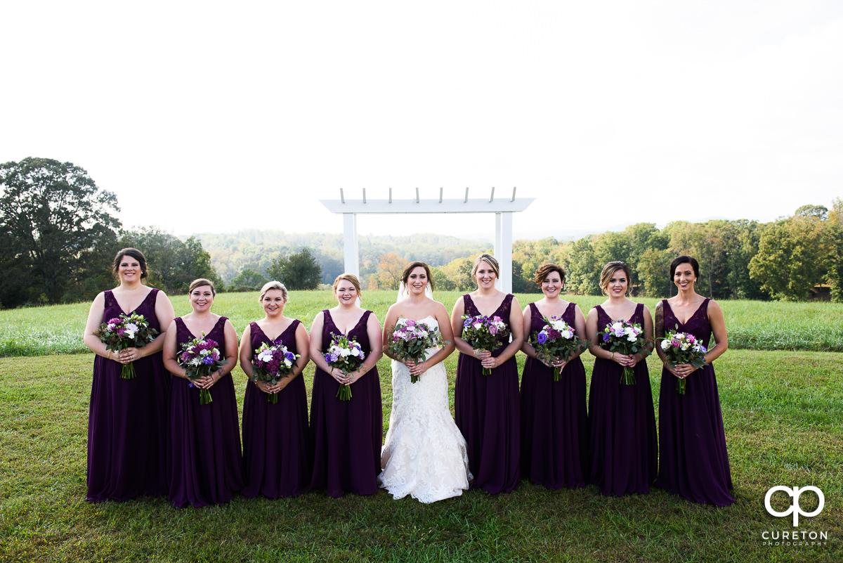 Bride and bridesmaids at Lindsey Plantation.