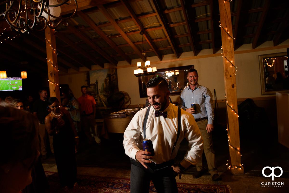 Groom on the dance floor.
