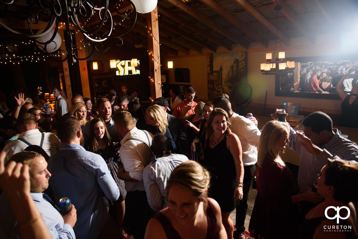 Packed dance floor at Lindsey Plantation.