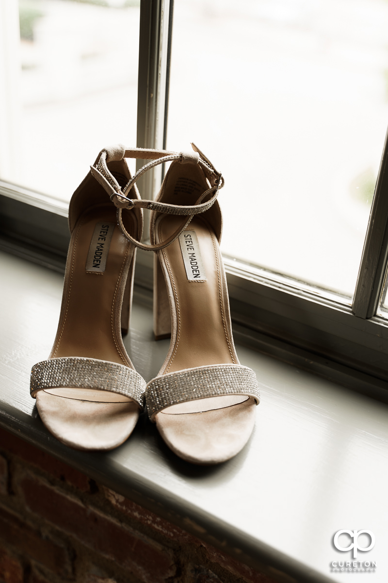 Bride's shoes by Steve Madden.