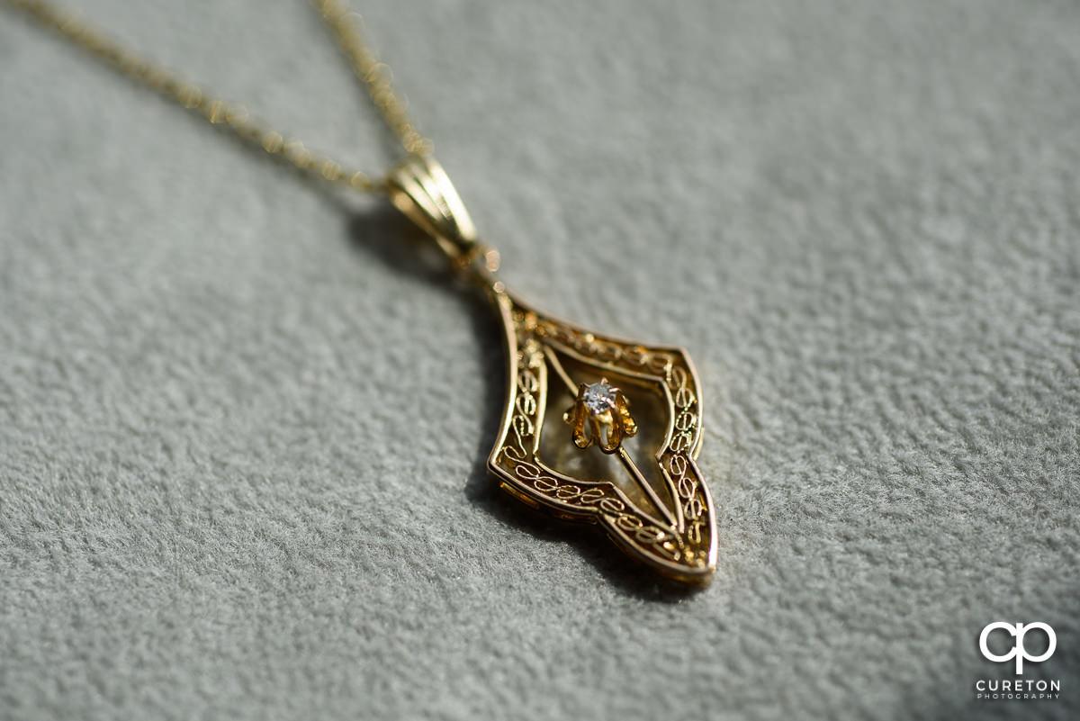 Bride's necklace.