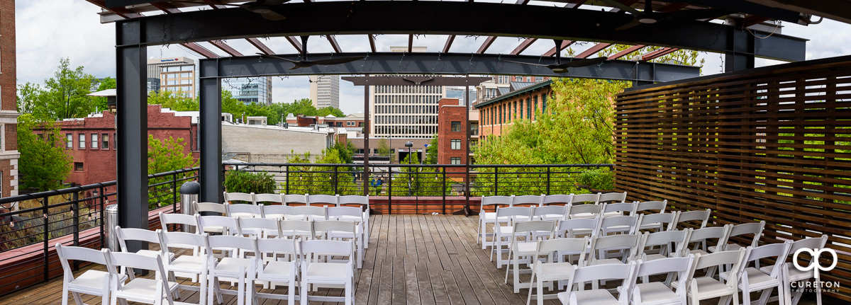 The Loft at Soby's setup for a wedding ceremony.