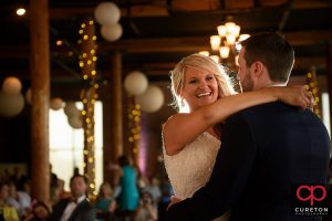 Bride and groom first dance at The Loom.