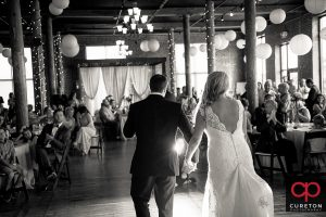 Bride and groom first dance.